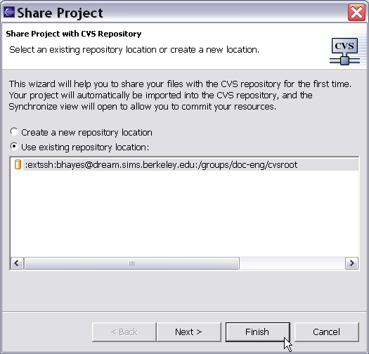 sims is 255  version control with eclipse and cvs