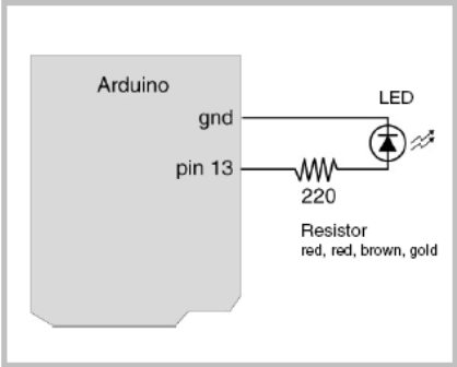 Blinking LED schematic